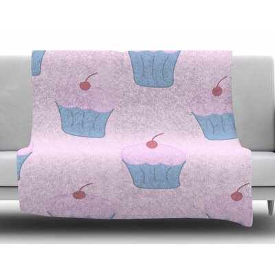 Pink Cupcakes by NL Designs Fleece Blanket