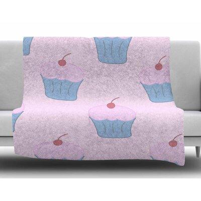 Pink Cupcakes by NL Designs Fleece Blanket