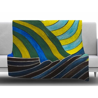 Desert Waves by NL Designs Fleece Blanket