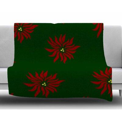 Pointsettias by NL Designs Fleece Blanket