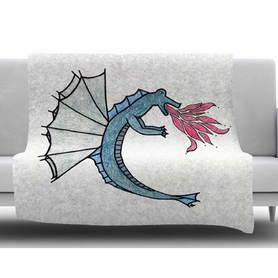 Water Dragon by NL Designs Fleece Blanket