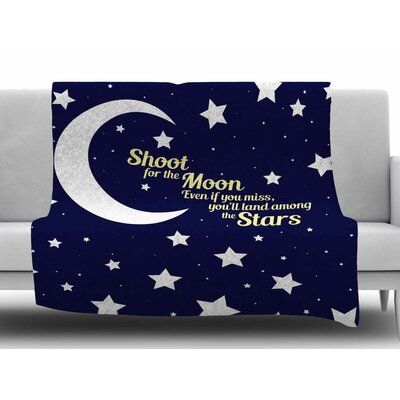 Moon and Stars Quote by NL Designs Fleece Blanket