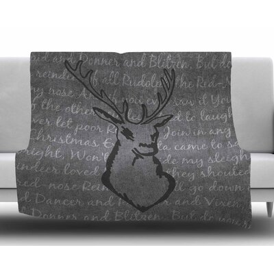 Reindeer by NL Designs Fleece Blanket