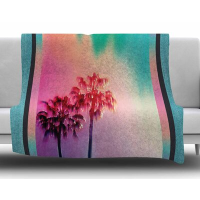 La Rainbow by Nina May Fleece Blanket