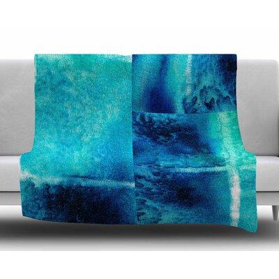 Saltwater Study by Nina May Fleece Blanket