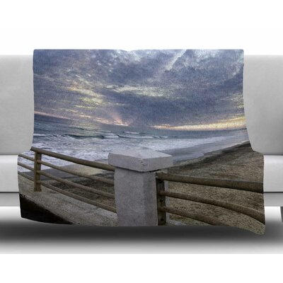 Oceanside Pier at Sunset by Nick Nareshni Fleece Blanket