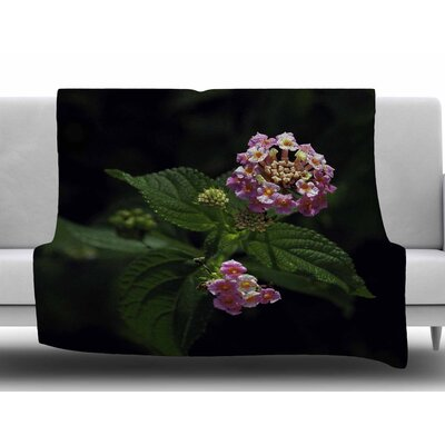 Lantana Flower by Nick Nareshni Fleece Blanket