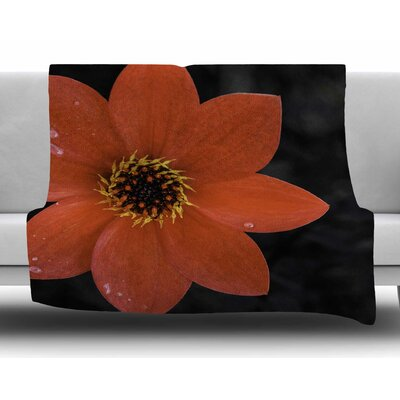 Wet Flower Petals by Nick Nareshni Fleece Blanket