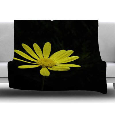 Pedal Daisy by Nick Nareshni Fleece Blanket