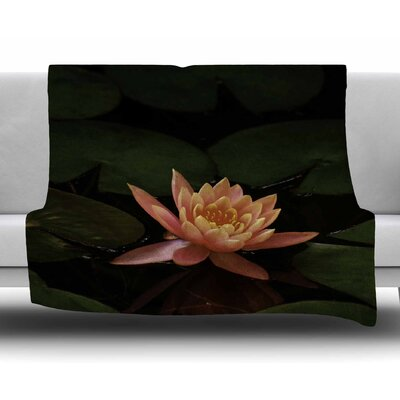 Lily Pad Flower by Nick Nareshni Fleece Blanket