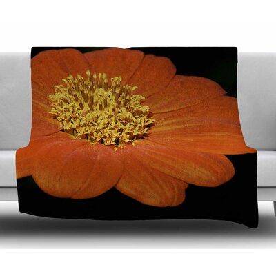 Open Wide Flower by Nick Nareshni Fleece Blanket