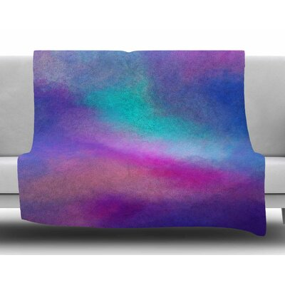 Abstract 02 by Viviana Gonzalez Fleece Blanket