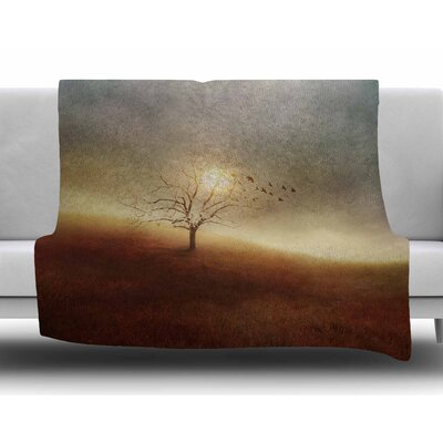 Lone Tree Love I by Viviana Gonzalez Fleece Blanket