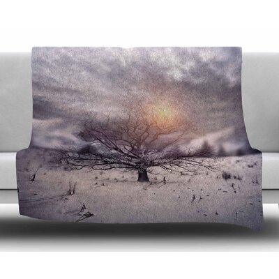 Lone Tree Love Ii by Viviana Gonzalez Fleece Blanket
