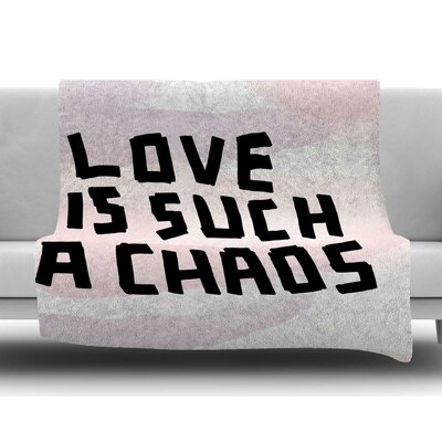 Love is Such a Chaos by Vasare Nar Fleece Blanket