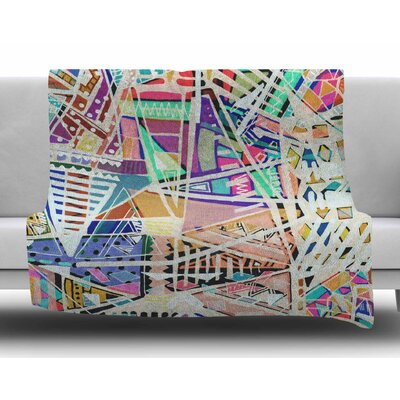 Abstract Geometric Playground by Vasare Nar Fleece Blanket