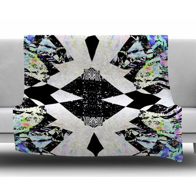 Abstract Zebra by Vasare Nar Fleece Blanket