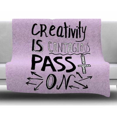Creativity is Contagious by Vasare Nar Fleece Blanket