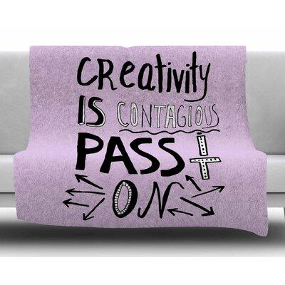 Creativity is Contagious by Vasare Nar Fleece Blanket