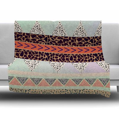 Animal Print Tribal by Vasare Nar Fleece Blanket