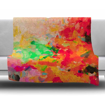 La Rochelle-Abstract by Oriana Cordero Fleece Blanket