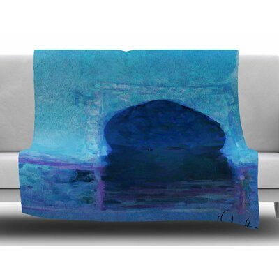 Chefchaouen-City by Oriana Cordero Fleece Blanket