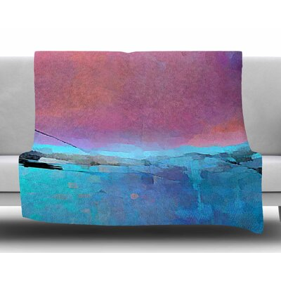 Versailles-Abstract by Oriana Cordero Fleece Blanket