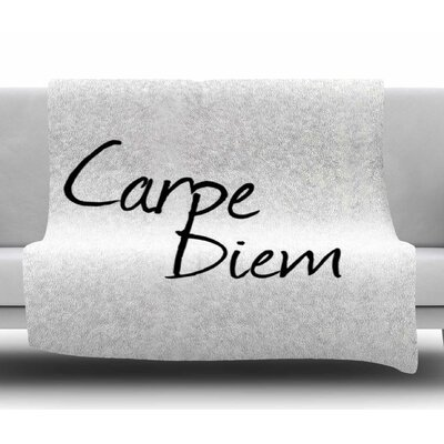 Carpe Diem by Oriana Cordero Fleece Blanket