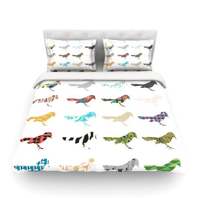 Birds by Belinda Gillies Featherweight Duvet Cover Size: Full/Queen