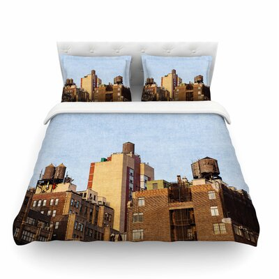 Vintage NYC Cityscape by Ann Barnes Featherweight Duvet Cover Size: Twin