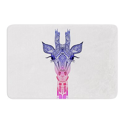Rainbow Giraffe by Monika Strigel Bath Mat
