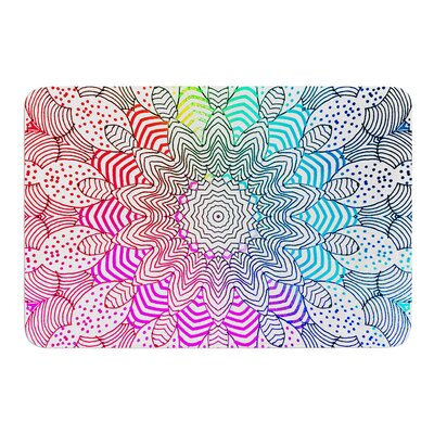 Rainbow Dots by Monika Strigel Bath Mat