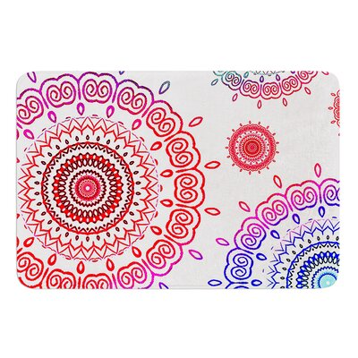 Rainbow Infinity by Monika Strigel Bath Mat
