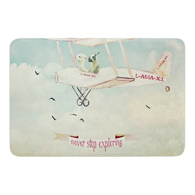 Never Stop Exploring II by Monika Strigel Bath Mat