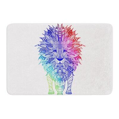 Rainbow Lion by Monika Strigel Bath Mat