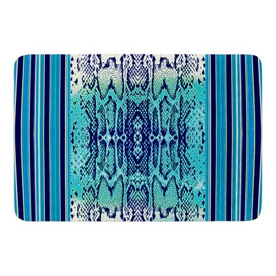 Aqua Snake by Nina May Bath Mat