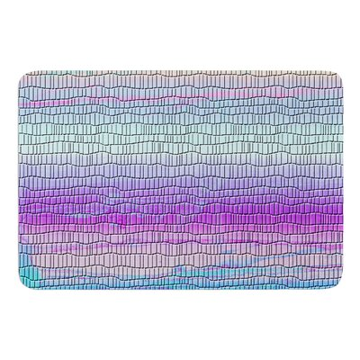 Drip Dye Cool Strid by Nina May Bath Mat