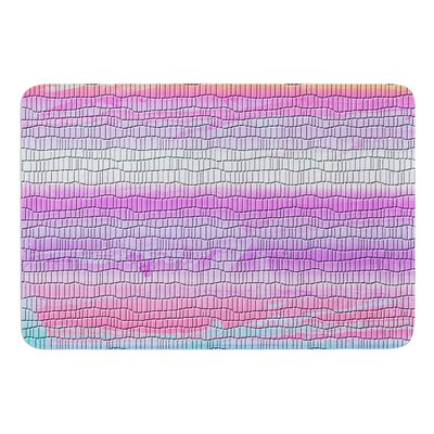 Drip Dye Warm Strid by Nina May Bath Mat