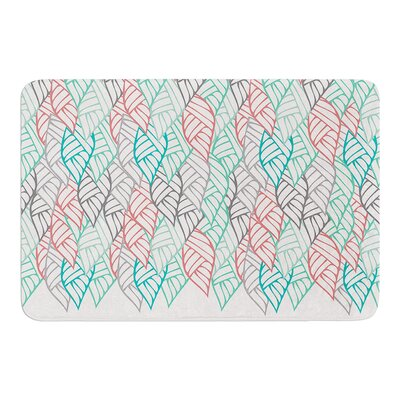 Ethnic Leaves by Pom Graphic Design Bath Mat