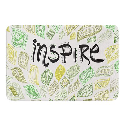 Inspire Nature by Pom Graphic Design Bath Mat