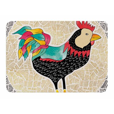 Cuckaroo Rooster by Pom Graphic Design Bath Mat