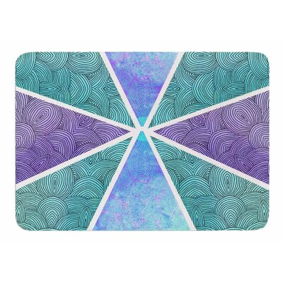 Reflective Pyramids by Pom Graphic Design Bath Mat