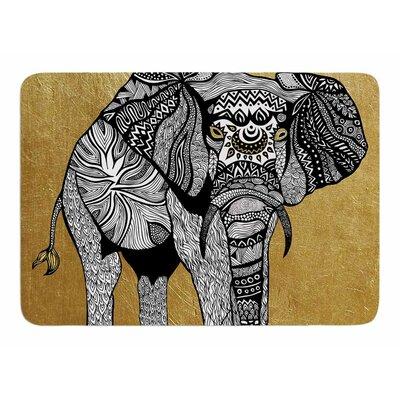 Golden Elephant by Pom Graphic Design Bath Mat