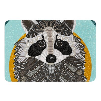 Racoon in Grass by Art Love Passion Bath Mat Size: 17W x 24L