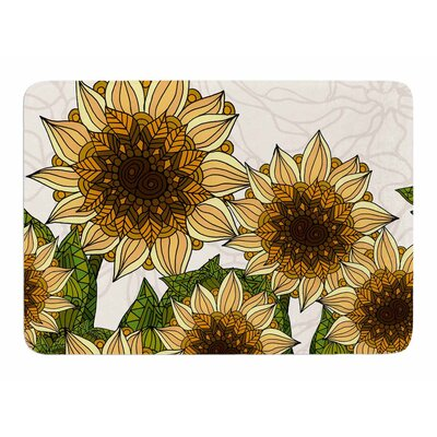Sunflower Field by Art Love Passion Bath Mat