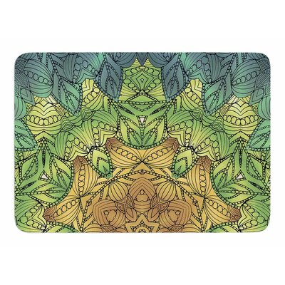 Celtic Golden Flower by Art Love Passion Bath Mat