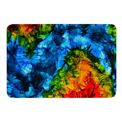 Flow by Claire Day Bath Mat Size: 17