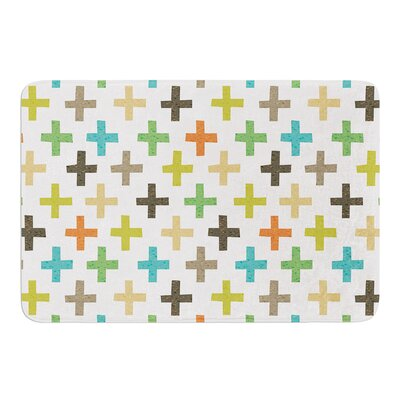 Hipster Crosses Repeat by Daisy Beatrice Bath Mat Size: 17W x 24L