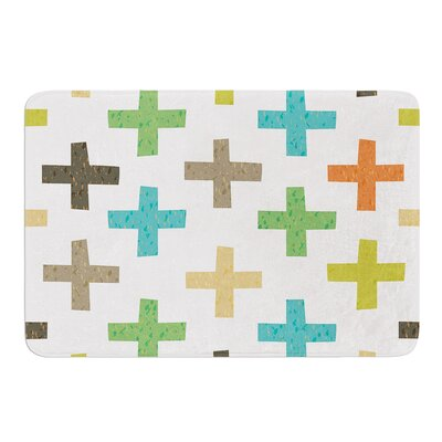 Hipster Crosses by Daisy Beatrice Bath Mat Size: 17W x 24L