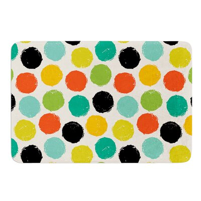 Retro Dots Repeat by Daisy Beatrice Bath Mat Size: 24 W x 36 L